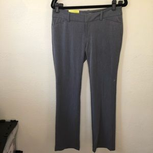 NWT Merona Modern Fit Boot Cut Gray Pants Size 8